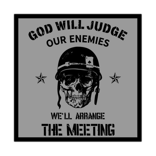 god will judge our enemies decal sticker