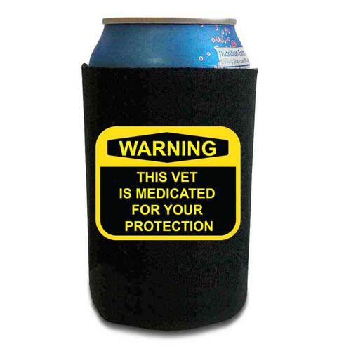 us veteran can koozie medicated vet vinyl