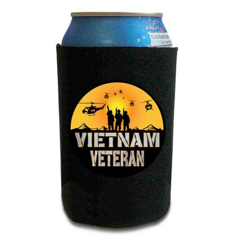 vietnam veteran can koozie huey sunset vinyl