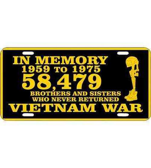 vietnam in memory license plate