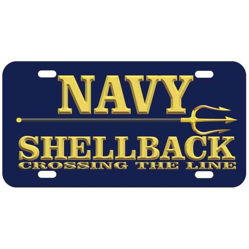 navy shellback license plate