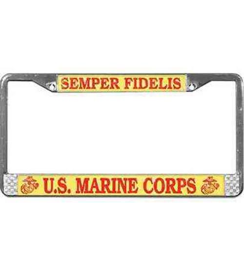 usmc semper fidelis license plate frame