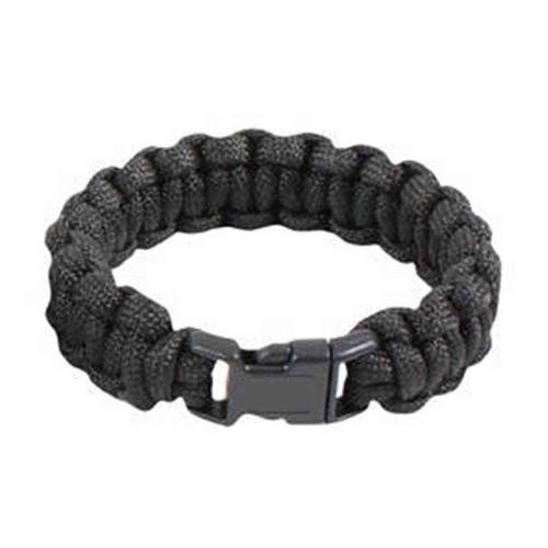 7 strand paracord bracelet in black