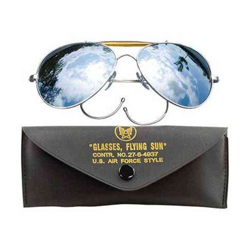 Aviator Air Force Style Mirrored Sunglasses