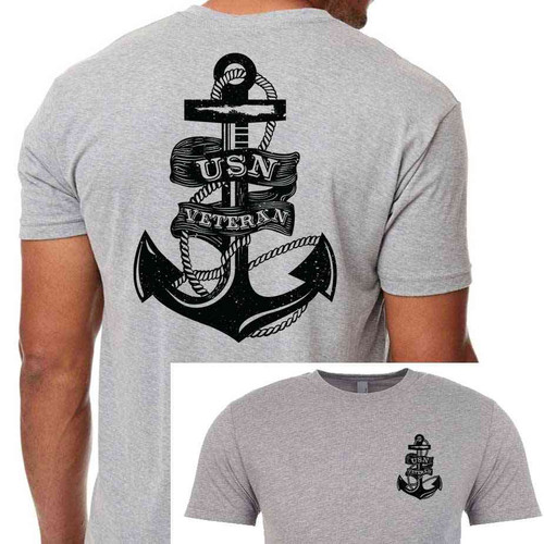USN Veteran T-Shirt with Anchor Graphic