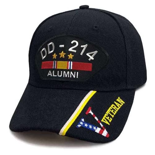 US Veteran Hat with DD-214 Alumni and V Veteran Graphics