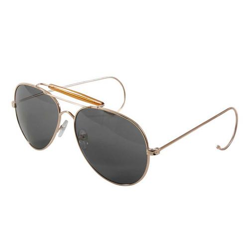 Aviator Air Force Style Gold/Smoke Sunglasses