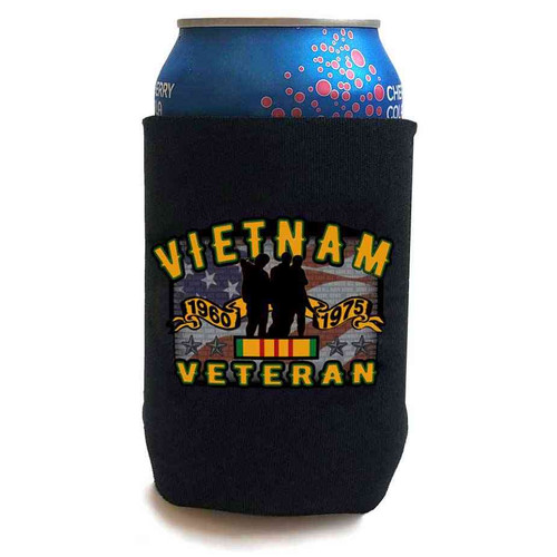 Vietnam Veteran Memorial Three Brothers Can Koozie