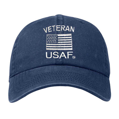 USAF Veteran Hat with Embroidered US Flag