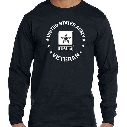 Officially Licensed Army Veteran Long Sleeve Shirt with US Army Logo