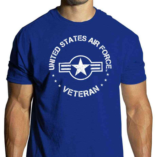 US Air Force Veteran T-Shirt with USAF Roundel