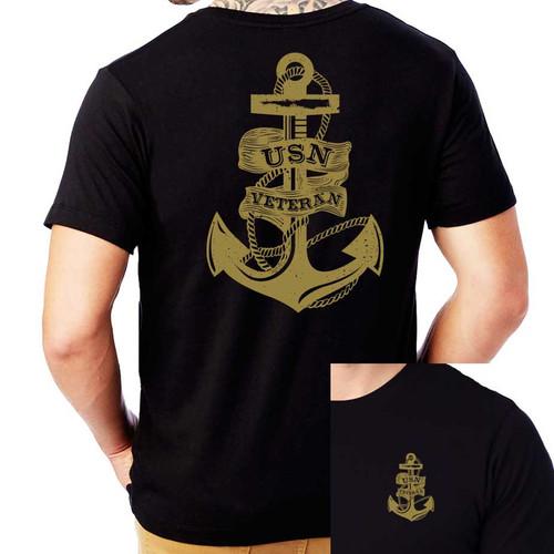 USN Veteran T-Shirt with Anchor