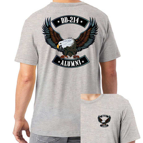 US Veteran T-Shirt with DD-214 and Eagle Graphic