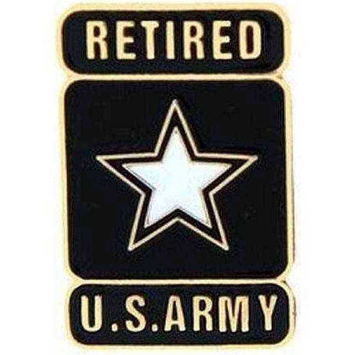Army Retired Hat Lapel Pin