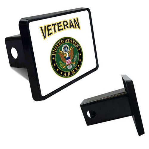 Army Veteran Tow Hitch Cover with Army Logo