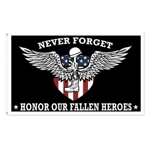 Never Forget Honor Our Fallen Heroes Flag