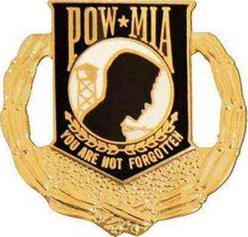 POW/MIA Hat Lapel Pin