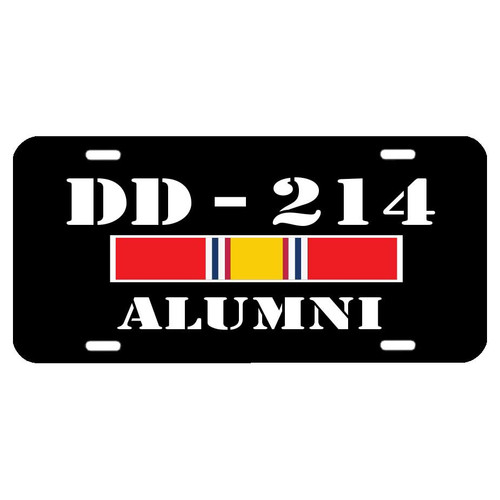 US Veteran License Plate with DD-214 Graphic