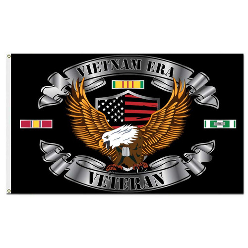 Vietnam Veteran Flag with Eagle and Shield Graphics