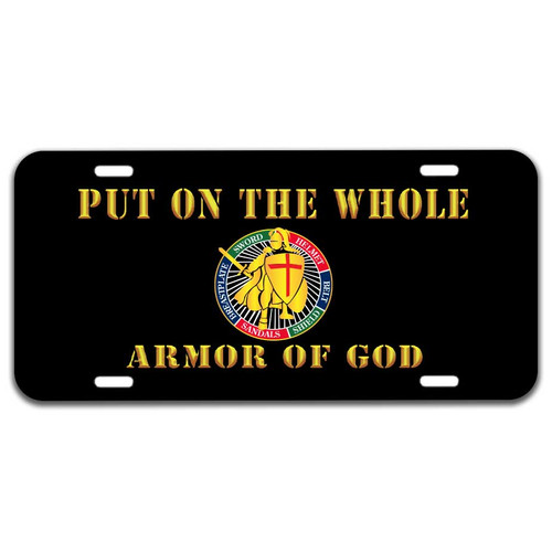 Armor Of God License Plate