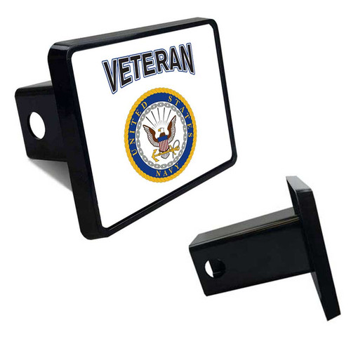 Navy Veteran Tow Hitch Cover with Navy Logo