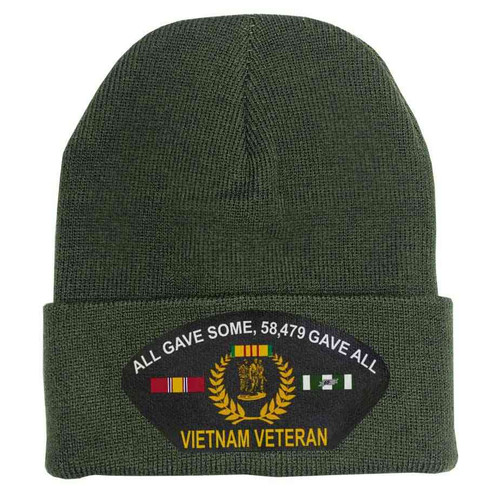 Vietnam Veteran All Gave Some, 58,479 Gave All - Custom Edition Vinyl Graphic Knit Winter Hat