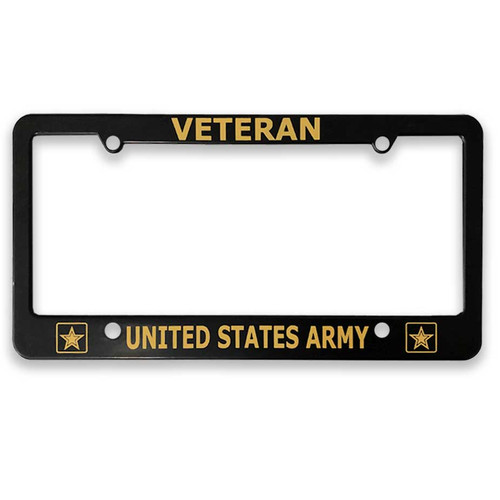 United States Army Veteran License Plate Frame