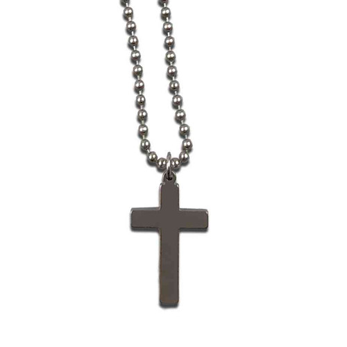 U.S. Military Dog Tag Cross with Chain