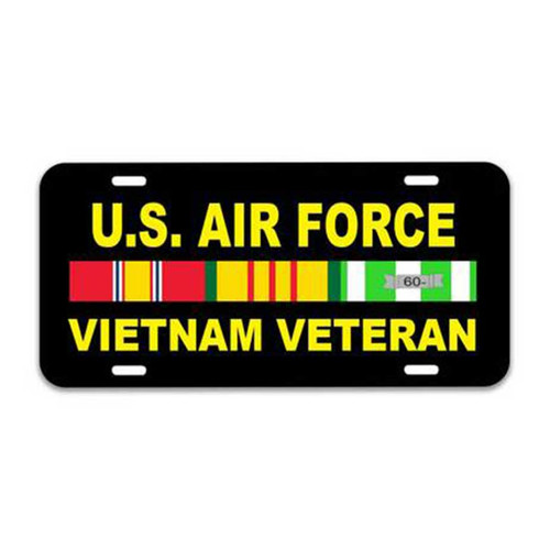 Air Force Vietnam Veteran License Plate with Ribbons Graphic
