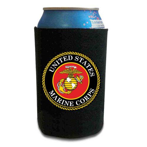 Marine Corps Can Koozie with Marine Corps Logo Vinyl Graphic