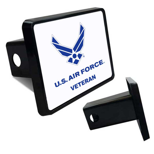USAF Veteran Tow Hitch Cover with Air Force Wings Logo