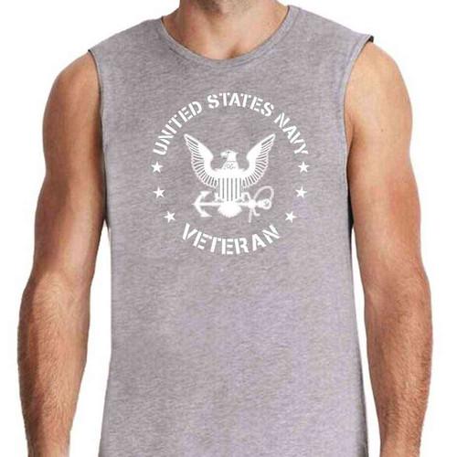 US Navy Veteran Sleeveless Shirt with Eagle Emblem