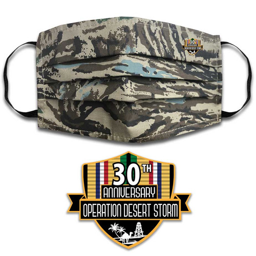 Desert Storm Face Mask with Ribbons Graphic