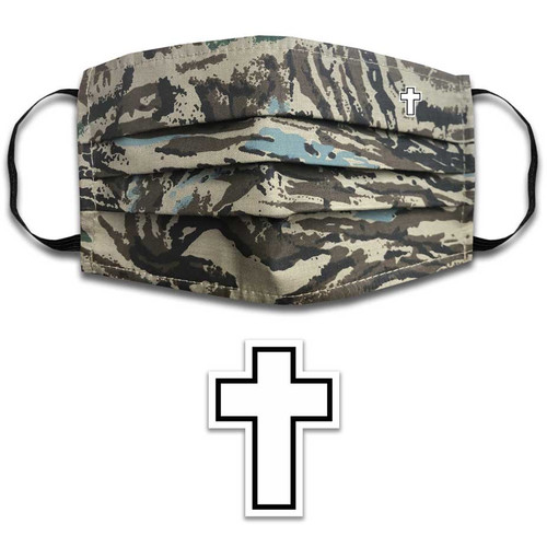Face Mask with Cross Graphic