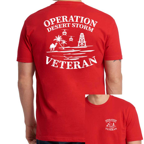 Operation Desert Storm Veteran T-Shirt with Text and Graphic