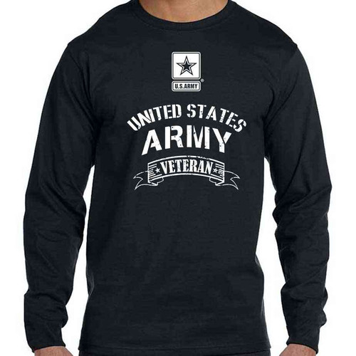 Officially Licensed Army Veteran Long Sleeve Shirt with Army Logo