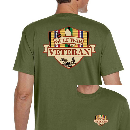 Gulf War Veteran T-shirt with Shield and Ribbon Graphic