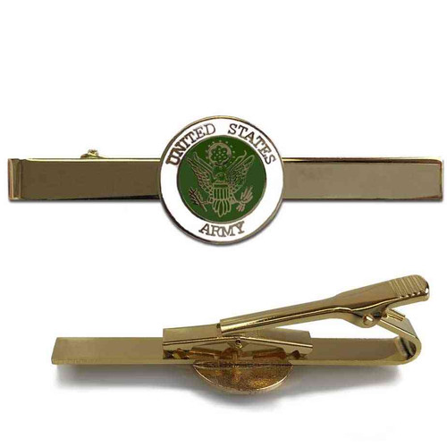 US Army Tie Bar with Eagle Emblem Graphic