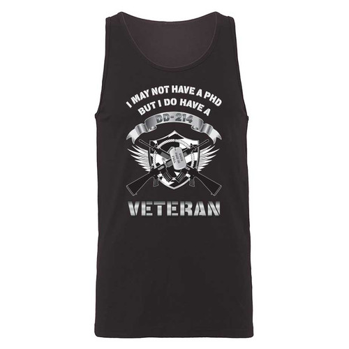 US Veteran Tank Top with DD-214 Graphic