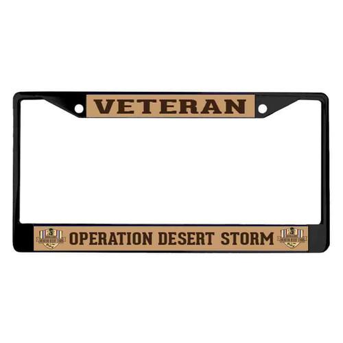 Operation Desert Storm Veteran License Plate Frame
