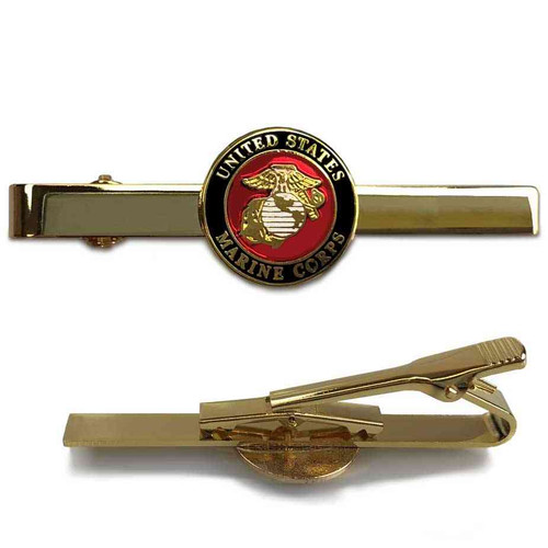 US Marine Corps Tie Bar with Emblem Graphic