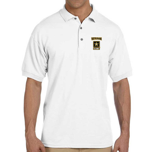 Officially Licensed US Army Veteran Polo Shirt with Embroidery