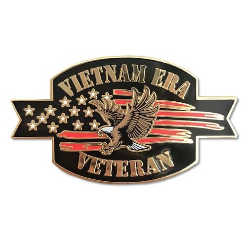 Vietnam Era Veteran Lapel Pin with Eagle and Flag Graphics