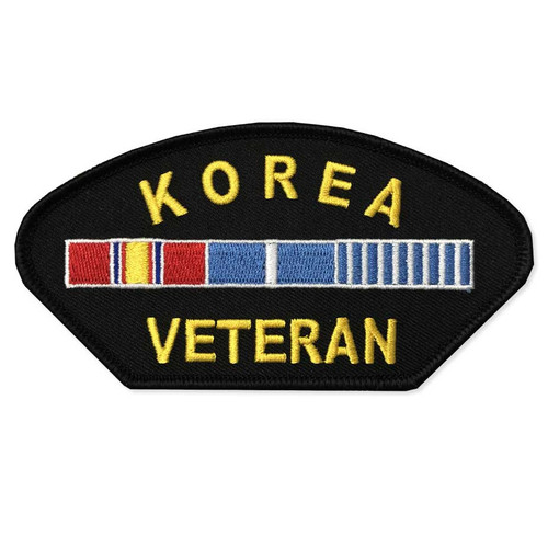 Korea Veteran Patch with Ribbons Graphic