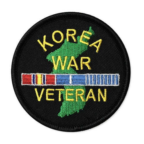 Korea War Veteran Patch with Ribbons Graphic