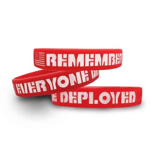 Remember Everyone Deployed Silicone Bracelet