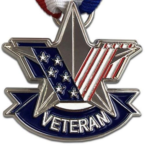 Official U.S. Veterans service medal at VetFriends