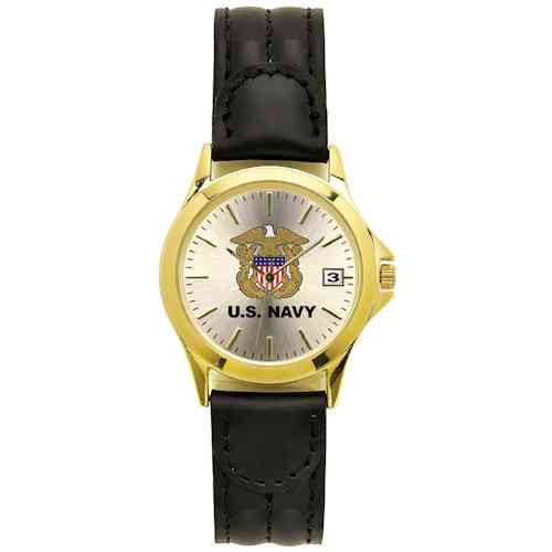 US Navy Watch with Leather Strap