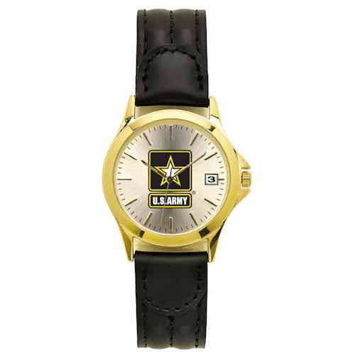 US Army Watch with Leather Strap