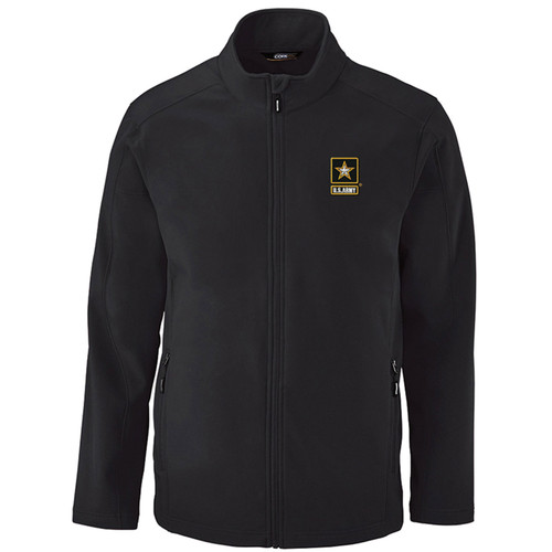 Officially Licensed US Army Logo Embroidered Softshell Jacket
